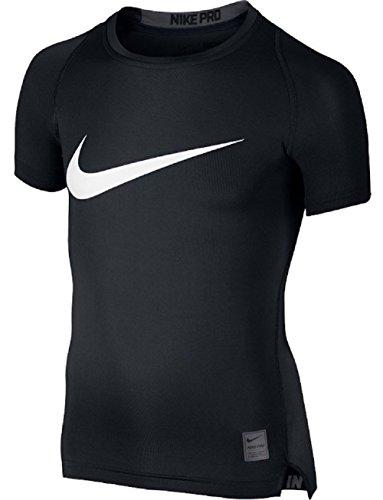 Nike Jungen Unterhemd Pro Cool Hybrid Compression Kurzarm T-shirt, Black/Anthracite/White, M (Nike T-shirt Pro Combat)