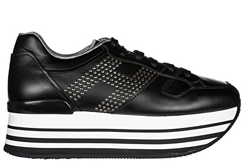 d23aa6289795c9 Hogan Damenschuhe Turnschuhe Damen Leder Schuhe Sneakers H222 Schwarz EU 38  HXW2830AA70KLAB999