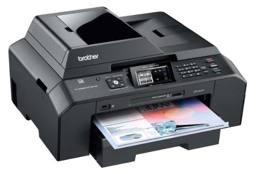 Brother MFC-J5910DW 4-in-1 Farbtintenstrahl-Multifunktionsgerät (Scanner, Kopierer, Drucker, Fax, USB 2.0) schwarz