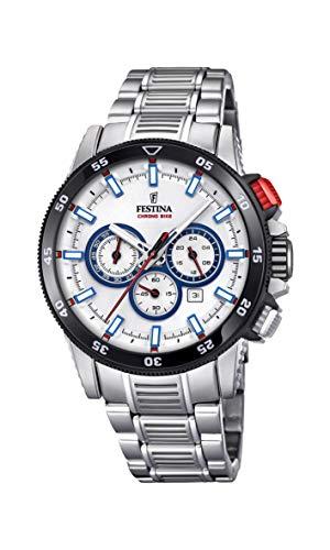 Festina Herren Chronograph Quarz Smart Watch Armbanduhr mit Edelstahl Armband F20352/1