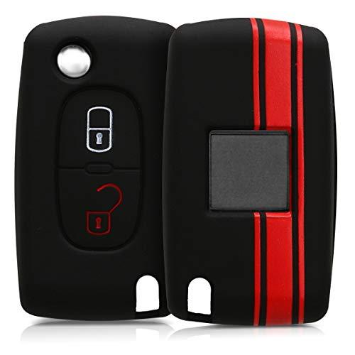 Kwmobile Funda Llave Plegable 2 Botones Coche Peugeot
