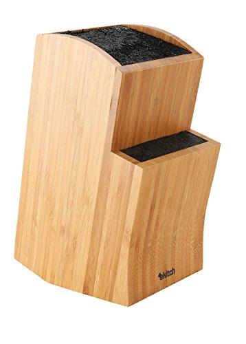 Ceppo Portacoltelli per Cucina Design Originale Elegante in Bambù (Bamboo)
