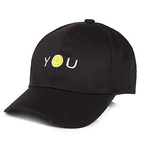 lingsmänner und Frauenbabykarikaturstickereibuchstabe Kappen Baseballmütze heraus den justierbaren Visierhuthut 2 ()