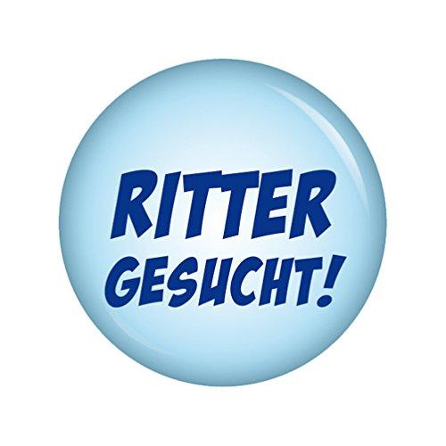 Kiwikatze® Fest - Ritter gesucht 37mm Button Ansteckbutton für Fasching Karneval Halloween Party und Feiern