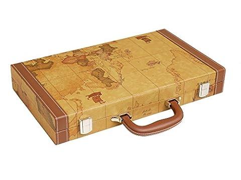 Kit de Backgammon de luxe de 15 pouces - Plateau marron