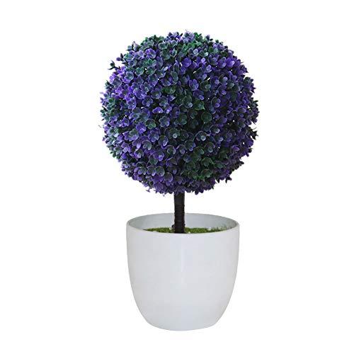 Amesii - 1 adorno mesa artificial forma bola decoración