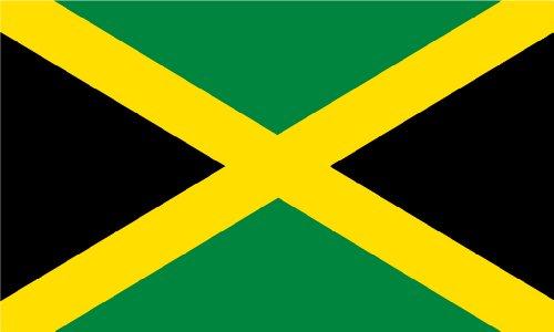 Jamaika Outdoor Flagge, Groß 3'x 5', beidseitigen witterungsbeständig Polyester -