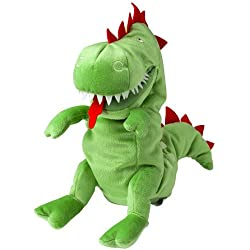 IKEA LASKIG Green Dragon Glove Puppet