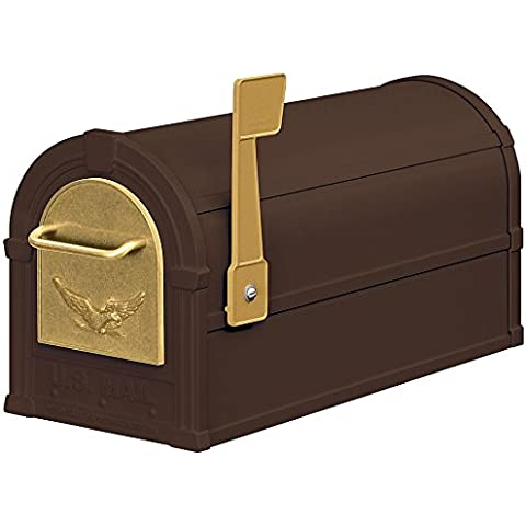 Eagle rurale Mailbox in bronzo e oro Eagle