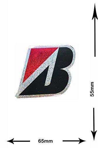 autocollant-sticker-bridgestone-b-2-pieces-glitter-effect-red-decal-car-motorbike-motocross-bike-bmx