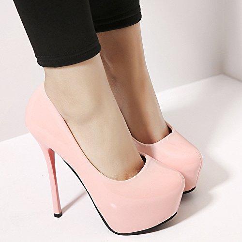 Impermeabile scarpe con i tacchi alti con una singola calzatura discoteche sexy casual Pink