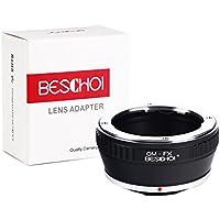 Beschoi OM-FX Objektiv Adapter für Olympus OM Objektiv an Fujifilm X-Mount Bajonett Systemkamera Fuji X-Pro1 X-Pro2 X-E1 X-E2 X-M1 X-A1 X-A2 X-A3 X-A10 X-M1 X-T1 X-T2