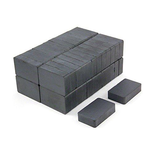 First4magnets F02510-50 40 x 25 x 10 mm dicken Y30BH Ferrit-Magnet-3kg ziehen (Packung mit 50), silver, 25 x 10 x 3 cm