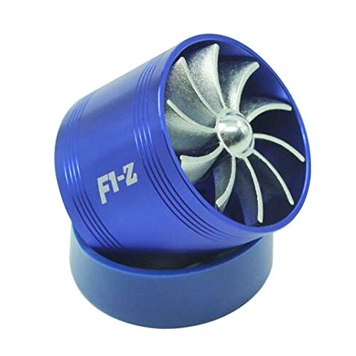 KKmoon Air Intake Gas Fuel Saver Fan Universal Fit Turbine Turbocharger Universal Fuel Gas Saver Air Filter Intake Single Supercharger Turbine Turbo Fan Test