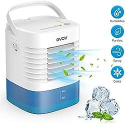 Climatiseur USB avec un Petit Entonnoir - GVDV Mini Ventilateur Silencieux, Refroidisseur D'air Portable Personnel, 3 Vitesses Différentes, Parfait pour Bureau Maison