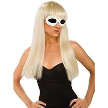 Rubbies France I-51550 - Peluca rubia con flequillo para disfraz de Lady Gaga