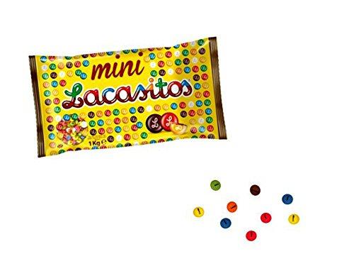 1kg Beutel von Mini Rundumdesign Farben mit Schokolade Süßigkeiten. Spielzeug und Geschenke Billig für Kindergeburtstag, Hochzeit, Taufe, Kommunion und Veranstaltungen. - 0011 Schokolade
