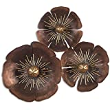 [Sponsored]Collectible India Metal Interior Design 3D LED Backlit Brown Sun Flower Wall Mounted Hanging Art Sculpture Modern Design Home Office Decor(Size 32 X 29 Inches)