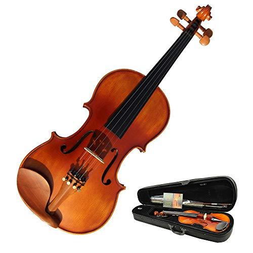 Violino Full-size Nero Si Riferisce Al Suono Del Violino Attillato Solido Casi Difficili Piastra Naturale Fatto A Mano Lucido Kit Violino Colofonia L'arco For Studenti Principianti 4 / 4,3 / 4,1 / 2,1