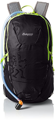 Bergans Rucksack Rondane, Black/NeonGreen, 55 x 40 x 30 cm, 18 Liter, 4650