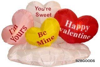 5 Foot valentine Aufblasbare Herz & Cloud Yard Blow Up Dekoration, romantische Valentines Geschenk für Paare, süßes Geschenk (Paare Halloween Für Ideen Süße Für)