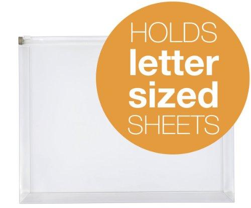 globe-weis zip buste, pezzi, trasparente, Letter Clear