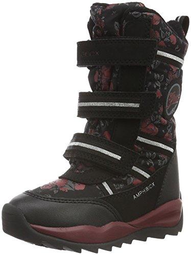 Geox J Orizont B Girl Abx B, Stivali da Neve Bambina, Schwarz (BLACKC9999), 33 EU
