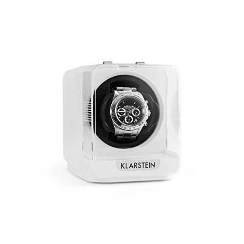 Klarstein Eichendorff • Uhrenbeweger • Uhrendreher • Uhrenbox • Uhrenkasten • Kapazität: 1 x Automatikuhr • 4 Bewegungsmodi • Rechts-Links Lauf • programmierbar • Laufruhig • Sichtfenster • Aufsatz für große Uhrenarmbänder • Netzbetrieb • weiß