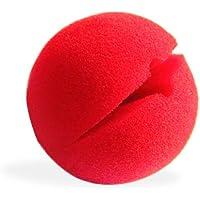 Clown-Nase, Schaumstoff, rot, 4 St.