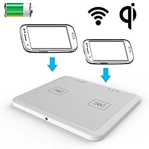 Chargeur Qi sans fil à induction smartphone double station de charge
