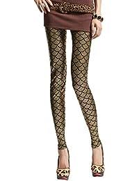 2031b9f7d7222 WanYangg Womens Funky Mermaid Fish Scale Printed Leggings Shiny Metallic  High Waisted Coloured Soft Stretch Tight