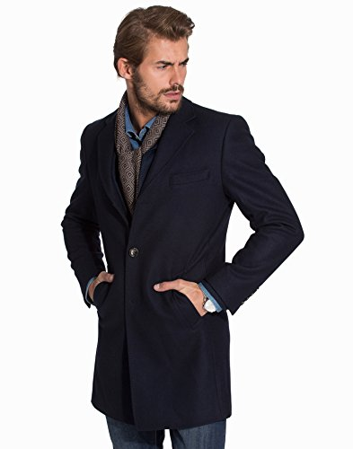 Knowledge Cotton - Wool manteau - Homme Total Eclipse