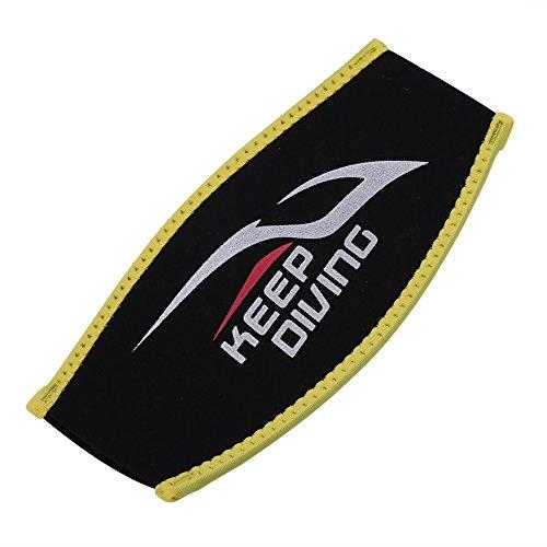 Bande de cheveux bandeaux de plongée couverture de cheveux extensible pour natation plongée sports nautiques(Black with Yellow)