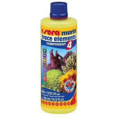 Marine Component 4 Trace Elements Cationic Saltwater Conditioning and Maintenance Size: 500 ml by Sera USA