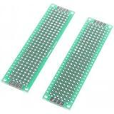 XMQC* 2 x 8cm de fibra de vidrio Breadboard prototipos (2 pcs)