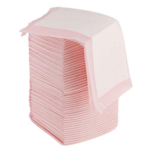 Gazechimp Inkontinenzunterlage Einmal- Unterlagen Einweg- Krankenunterlage Bettunterlage | ideal für Alter Kranken - Rosa, 50 Stück 45x33cm