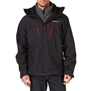 Berghaus Men's Mera Peak II Gore Tex Jacket - Black/Black, XX-Large
