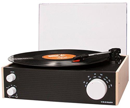 Crosley Switch Bluetooth Wireless giradischi con 3velocità e altoparlante integrato e con AM/FM Radio (spina UK)