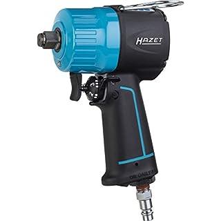 HAZET Druckluft-Schlagschrauber (extra kurz, max. Lösemoment 1400 Nm, Vierkant 12,5 mm (1/2 Zoll), empfohlenes Drehmoment 620 Nm, Hochleistungs-Doppelhammer-Schlagwerk) 9012MT