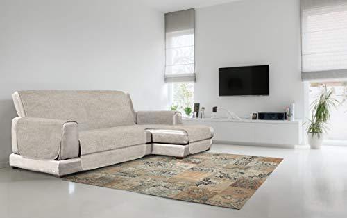 Italian Bed Linen Copridivano Antiscivolo 'Comfort' con Penisola, Beige, 240 cm