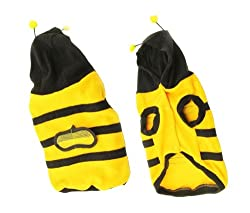 Demarkt Fashion Dog Cat Puppy Fleece Bumblebee Bee Hoodie Costume Clothes Pet Apparel Superdog Dress Up Pet Supplies Yellow and Black (M)