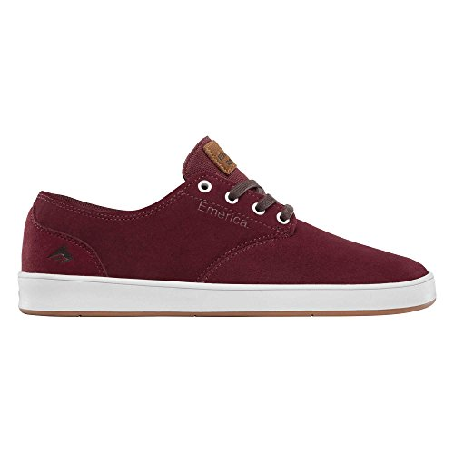 Emerica Laced By Leo Romero-M, Baskets mode homme Bourgogne/blanc