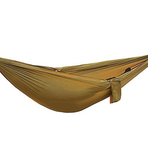 LaDicha 250 X 145 1-2 Person Outdoor Hängematte Fallschirm Tuch Tragbar Hängesessel Swing Hamac - Camel