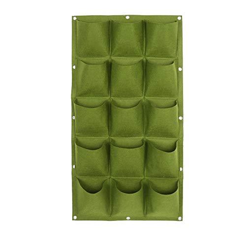 FYBOOR Vertikale Greening Wand Pflanzer Garten Hängen Pflanztaschen Garten Wand-Pflanzer lebender hängender Blumen-Beutel (15 Tasche) -