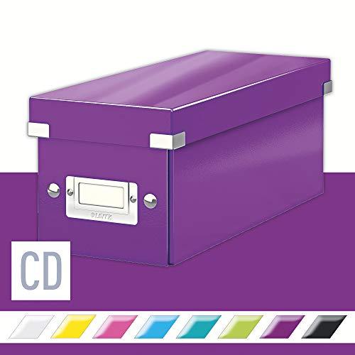 Leitz CD Aufbewahrungsbox, Lila, Mit Deckel, Click & Store, 60410062
