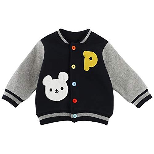 Kanodan Baby Jacke Jungen Mädchen College Jacke Babybekleidung (Marineblau, 6-9 Monate) - College-baby-kleidung