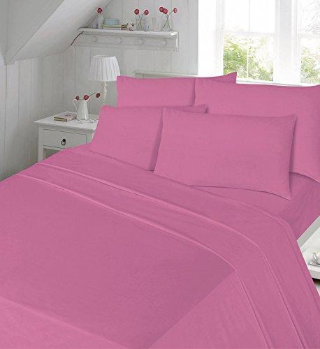 GK Eisen-Luxus-Qualität t-180Spannbetttuch, rose, King Fitted Sheet (152 x 200cm) (Rose-eisen-bett)