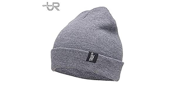 bfd3d294e3 Letter True Casual Beanies for Men Women Fashion Knitted Winter Hat ...