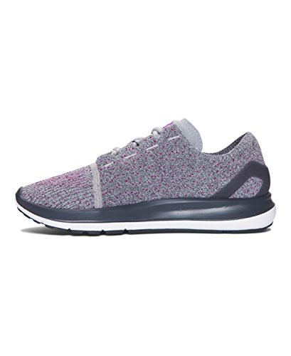 Under Armour Speedform Slingride Womens Chaussure De Course à Pied - AW16 Overcast Gray/stealth Gray/purple Lights