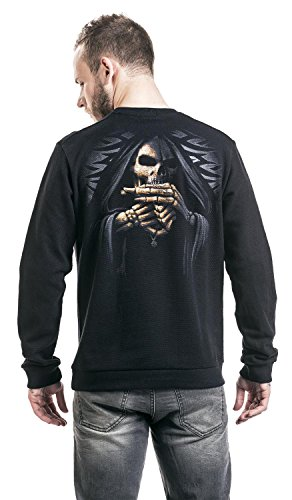 Spiral Bone Finger Sweat-Shirt schwarz Schwarz